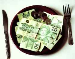 plate of money